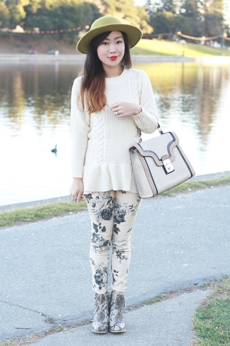 Lovely Cable Knit Peplum Sweater in Autumn 2