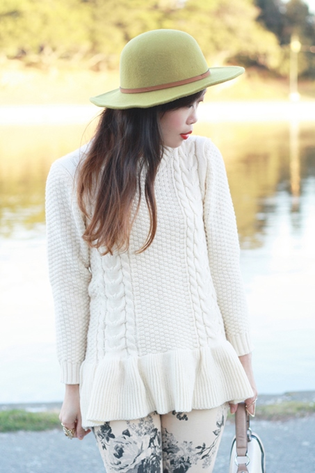 Lovely Cable Knit Peplum Sweater in Autumn 4