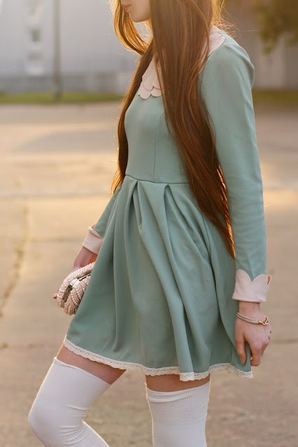 Mint Flared Dress: Comfortable and Cute 3