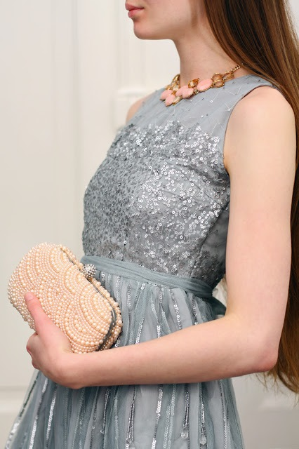 Delicate Accessories - Pink Pearl Clutch 1