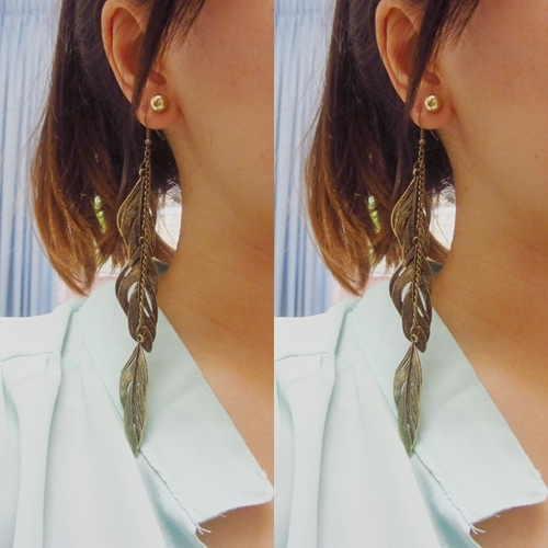 Long Leaves Earrings - Retro Style 1