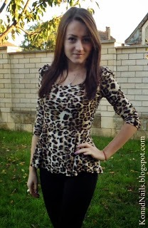 Fall in Love with Long Sleeve Leopard Blouse 1