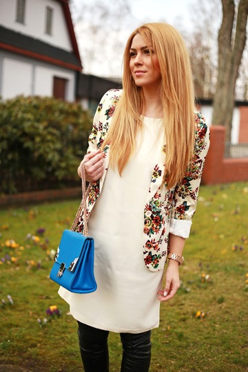 Floral Print Blazer - Like A Flower Waiting to Bloom 1