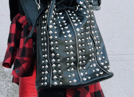 Black Rivet Cross Body Bag 3